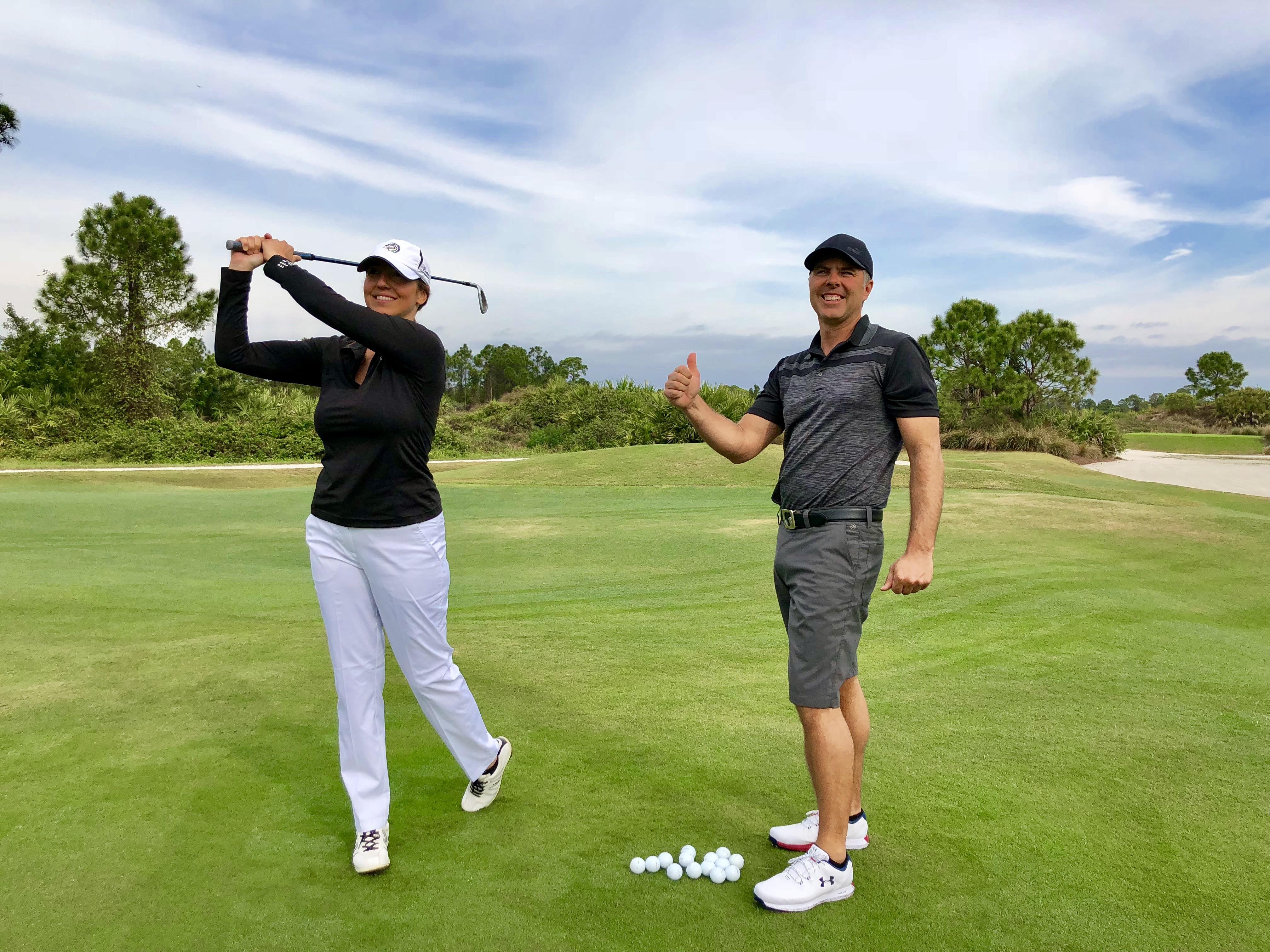Cours de golf par un professionnel